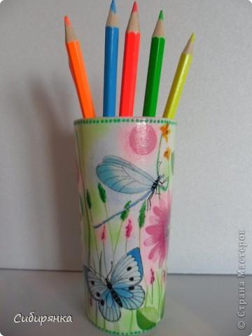 Карандашницы. Использовала высокие стаканы. фото 2