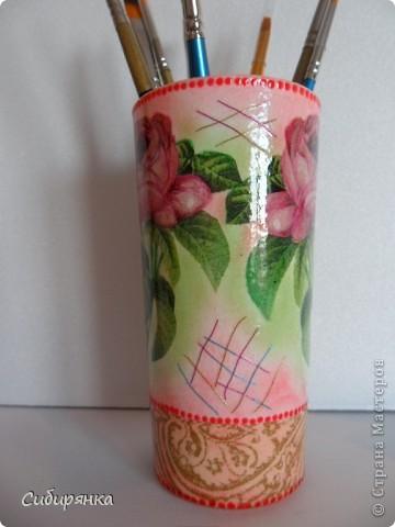 Карандашницы. Использовала высокие стаканы. фото 5