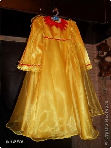 """Вот такое платье получилось у меня для костюма солнышко к фестивалю """"Надежда"""" фото 4"""