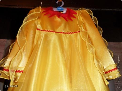 """Вот такое платье получилось у меня для костюма солнышко к фестивалю """"Надежда"""" фото 3"""
