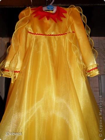 """Вот такое платье получилось у меня для костюма солнышко к фестивалю """"Надежда"""" фото 2"""