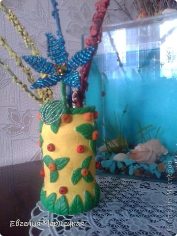 Решила выложить вот такую мою мини-вазочку!!! Может кому то пригодится!