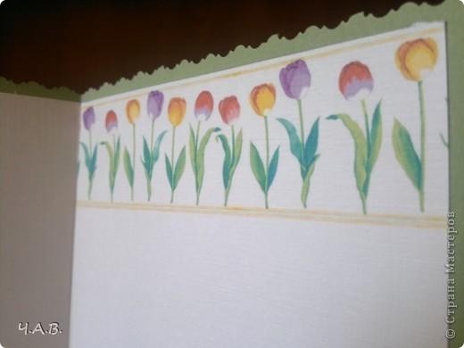 Благодарю всех мастериц за вдохновение!!! Сделала открытки к 8 Марта!))) фото 17