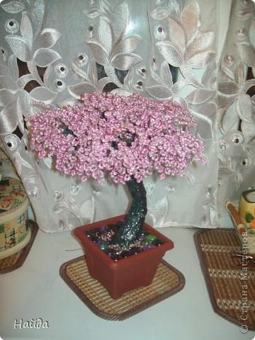"""в 2 мисочки розовый бисер разных оттенков в одну миску-мелкий,в другую крупный бисер так ветки не будут """"лысыми"""",да и дерево хочу крупное. проволока для бисера 0,3 мм сечением,зеленая. фото 11"""