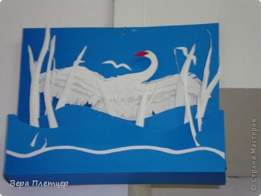 Наш лебедь появился благодаря Александре. http://stranamasterov.ru/node/160047?c=favorite Работа объемная, глубина 5 см, в 3 яруса. фото 1