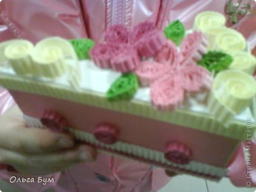 Вот такие тортики мы приготовили на 8 марта на первом занятии! Это тортики - коробочки для подарка. Спасибо Стране за МК!!! фото 5