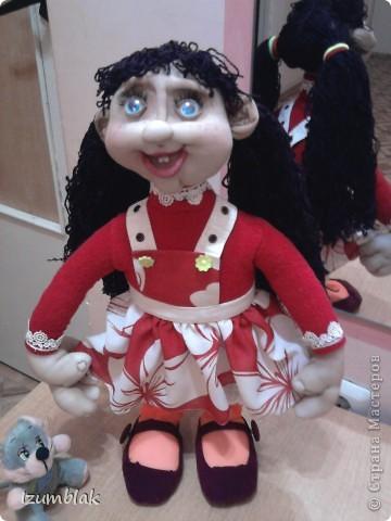 Моя первая кукла - Луша, рост - 48 см, сделана по МК pawy, за что ей огромное спасибо. фото 1