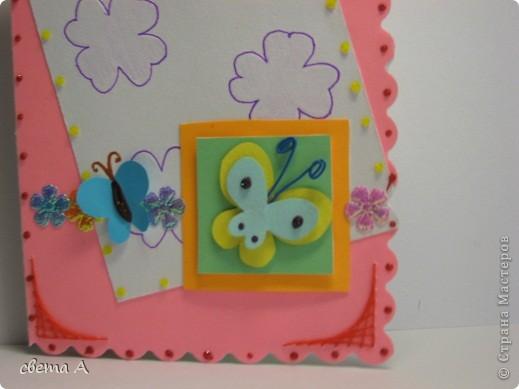 Я использовала цветную бумагу, пастельную белую бумагу, цветочки. фото 2