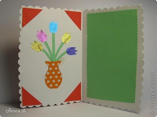 Я использовала цветную бумагу, пастельную белую бумагу, цветочки. фото 3