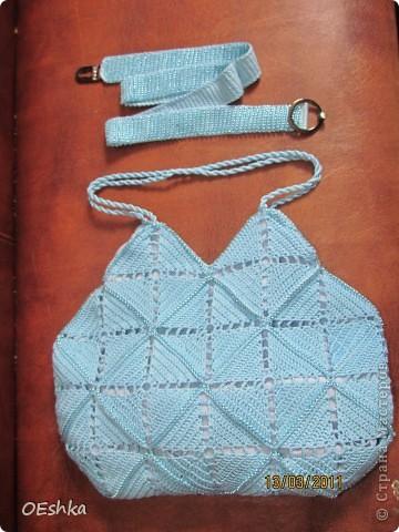Вот мой ,теперь уже комплект(пояс и сумочка).Т.к. пояс был связан с бисером решила и в сумочку его добавить. фото 1