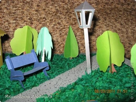 Вот такой макет городского парка культуры и отдыха мы сделали в школу на конкурс. Сейчас очень актуальной становится проектная деятельность школьников (по новым стандартам обучения).Вот и нам предложили принять участие в создании проекта на экологическую тему. фото 4