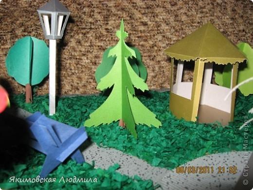 Вот такой макет городского парка культуры и отдыха мы сделали в школу на конкурс. Сейчас очень актуальной становится проектная деятельность школьников (по новым стандартам обучения).Вот и нам предложили принять участие в создании проекта на экологическую тему. фото 5