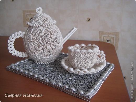 Вот наконец закончила свой чайный сервиз! Решила попробовать сделать для Вас МК! Не судите строго у меня это первый МК. Идея возникла когда увидела вот здесь - http://stranamasterov.ru/node/54865 фото 20