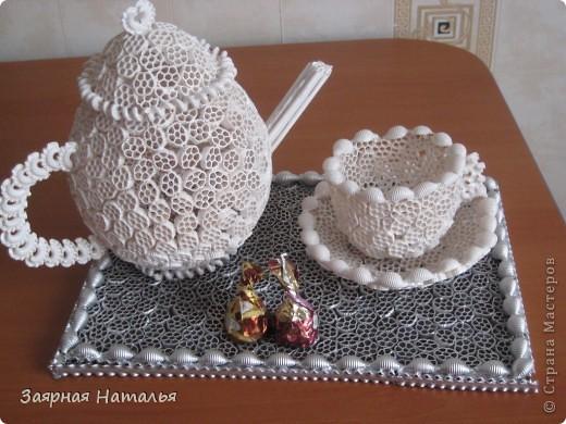 Вот наконец закончила свой чайный сервиз! Решила попробовать сделать для Вас МК! Не судите строго у меня это первый МК. Идея возникла когда увидела вот здесь - http://stranamasterov.ru/node/54865 фото 1