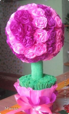 Вот мое розовое дерево. Спасибо всем мастерицам, которые вдохновили меня на это дерево! фото 1