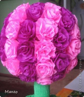 Вот мое розовое дерево. Спасибо всем мастерицам, которые вдохновили меня на это дерево! фото 2