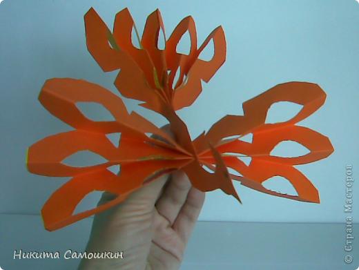 Поделка изделие Бумагопластика Жар-птица из цветной бумаги  Бумага фото 1