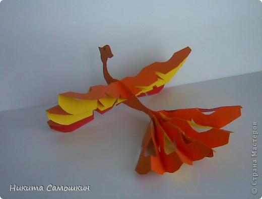 Поделка изделие Бумагопластика Жар-птица из цветной бумаги  Бумага фото 5