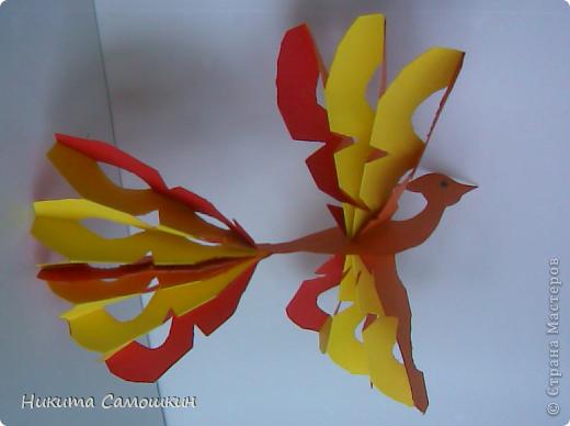 Поделка изделие Бумагопластика Жар-птица из цветной бумаги  Бумага фото 2