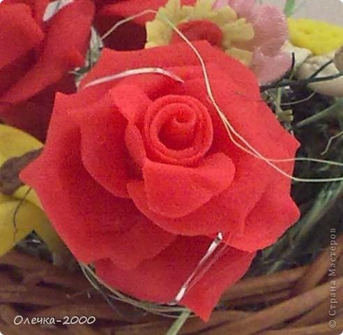 Эти цветы я лепила из пластики фото 2