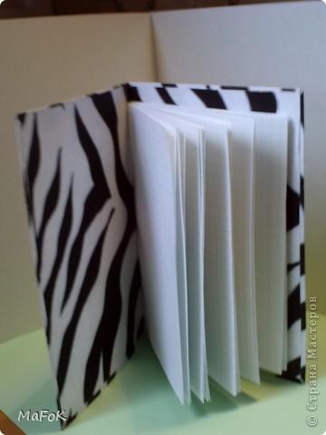"""Вот такие чёрно-белые блокнотики """"Зебра"""" и """"Далматинец"""" у меня получились. Просто у меня принтер только чёрно-белый. фото 14"""