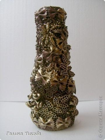 Рамка для фото, декорированная макаронами. фото 4