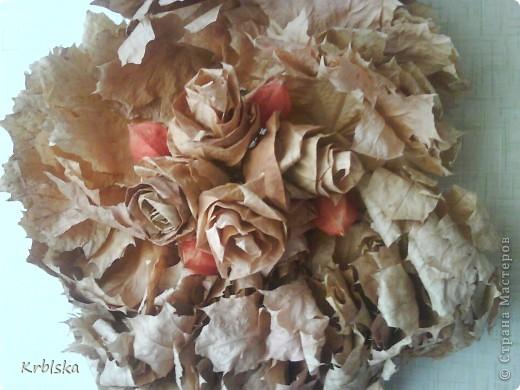 моя первая картина из сухих листьев  фото 2