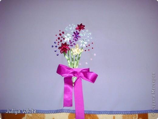 Декоративная Скатерть, вышитая лентами и украшеная бисером) фото 1