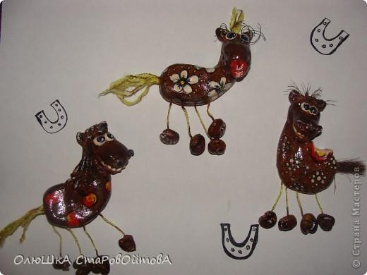 увидела лошадек из глины в интернете, а у меня получились из солёного теста. фото 4