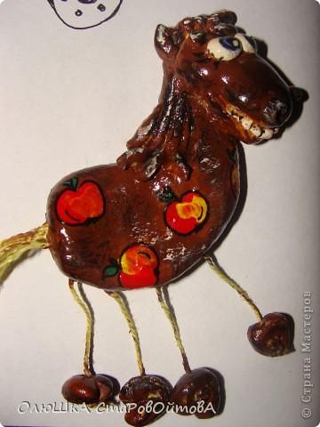 увидела лошадек из глины в интернете, а у меня получились из солёного теста. фото 2