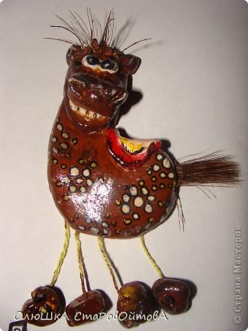 увидела лошадек из глины в интернете, а у меня получились из солёного теста. фото 1