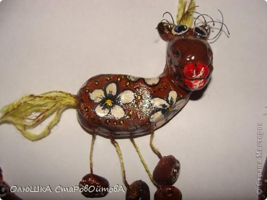 увидела лошадек из глины в интернете, а у меня получились из солёного теста. фото 3