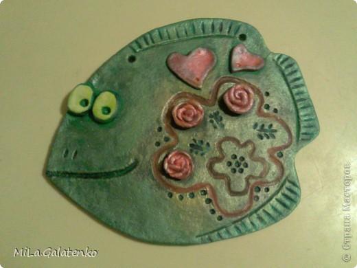 Эта рыбка- совместная работа с сестренкой))))подарок мне)))