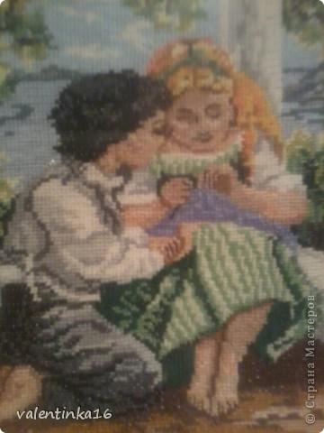 """""""Рождение чувства"""" размер готовой вышивки 24*33 фото 2"""