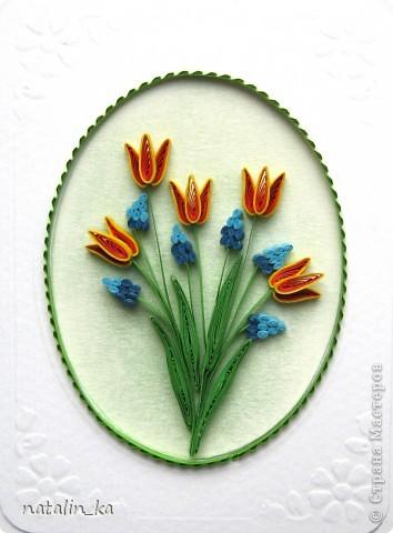 Весна неумолимо приближается и я вспомнила что это значит... что скоро мой город будет украшен моими любимыми цветами - тюльпанами. А пока эта прекрасная пора все же еще не настала, я вырастила сама себе свои любимые цветы с помощью своего любимого, способного творить чудеса, квиллинга. Буду рада таким же любителям тюльпанов, любителям цветов, квиллинга и всем всем, кто творит чудеса своими руками. Всем весеннего обновления и творческого подъема!!! фото 4