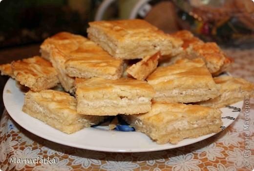 """Пирог """"Нежность"""" с яблоками и творогом фото 1"""