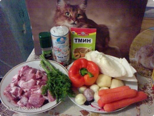 Всем привет))) я как обычно выкладываю рецепт на ночь ))) На этот раз это густой, ароматный, мясной суп-гуляш... очень вкусный... моим он очень нравится... надеюсь и Вам понравится))) фото 2