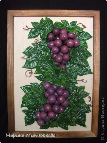 Виноград из солёного теста