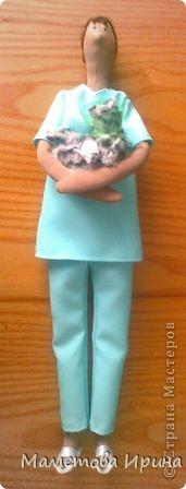 А у меня опять Тильда. Идею взяла в интернете, извиняюсь перед автором (если видит), но кукла шилась на заказ. фото 1