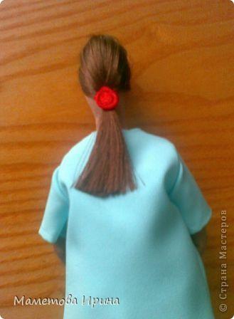 А у меня опять Тильда. Идею взяла в интернете, извиняюсь перед автором (если видит), но кукла шилась на заказ. фото 3