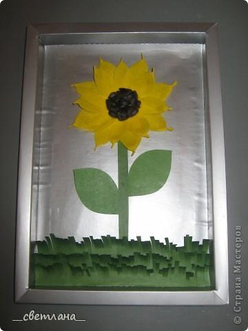 Эту работу делал мой сын (6 лет), с незначительной моей помощью, на выставку.