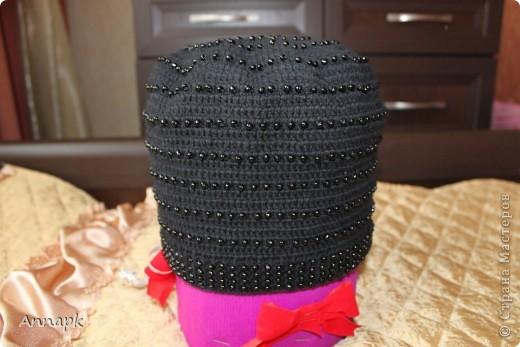 Вот и у меня появилась шапочка с бисером. Большое спасибо Голубке за вдохновение и подробный МК!  фото 3