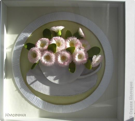 Добрый день Мастера и Мастерицы!!!  Еще одни маргаритки сделала для любимой мамочки в подарок на 8 марта. фото 2