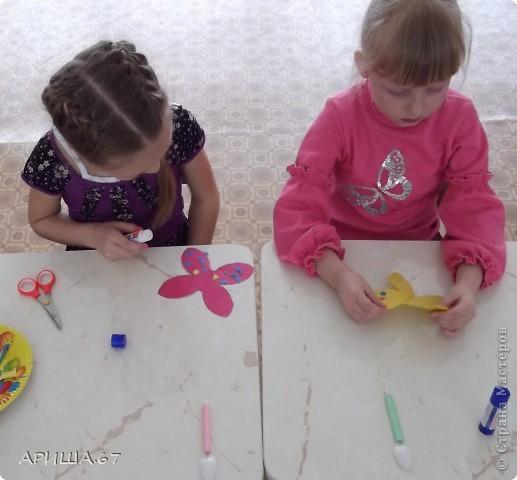 сегодня с шестилетками делали вот такие бабочки... фото 8