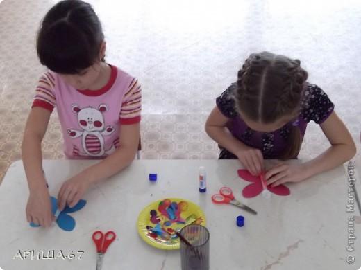 сегодня с шестилетками делали вот такие бабочки... фото 9