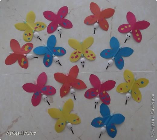 сегодня с шестилетками делали вот такие бабочки... фото 1