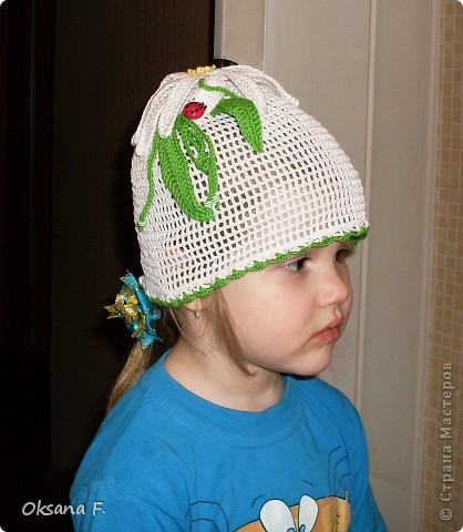 Вот такая панама-ромашка получилась у нас с дочей:) фото 6
