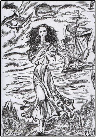 Мои чёрно-белые рисунки. фото 3