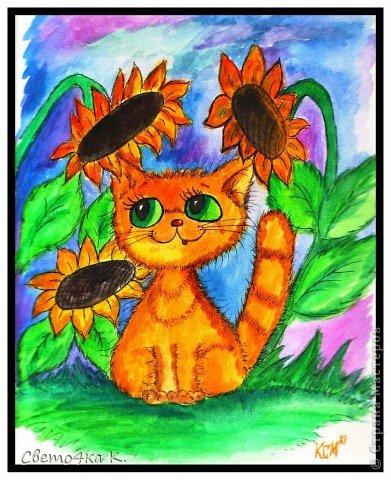 Рисованные котята фото 2