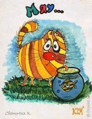 Рисованные котята фото 3